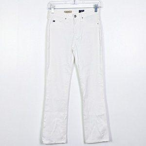 AG Adriano Goldschmied Jodi Crop White Jeans